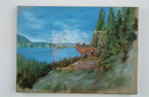 Nina venus art 3d deer family